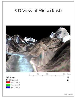 3-D view of Hindu Kush