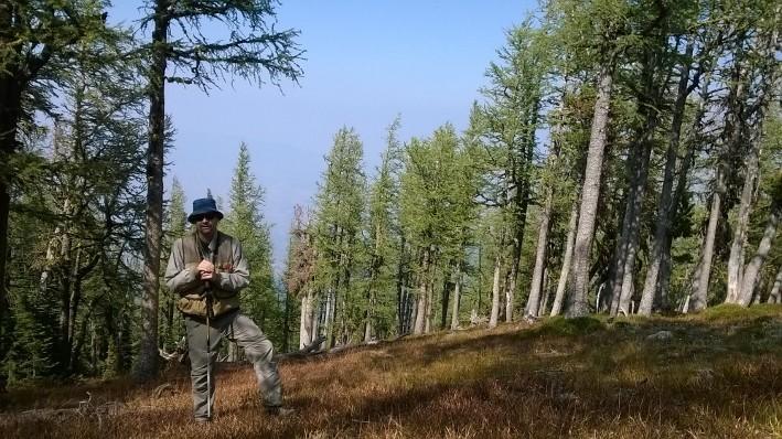 Dr. Soule at Carlton Ridge Research Natural Area, Montana